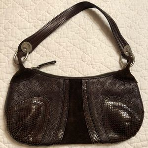 Banana Republic Brown Leather/ Suede Hobo Purse